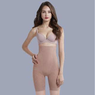 【曼黛瑪璉】魔幻美型重機能-防駝背心魔幻美型重機能-超高腰長管無痕束褲(內斂膚)