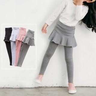 【小衣衫童裝】女童波浪小花邊短裙假2件長褲裙褲(1070930)