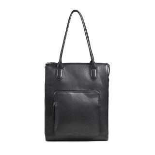 【MARKBERG】Asma 丹麥手工牛皮阿斯瑪個性托特包 肩背包/手提包(極簡黑)
