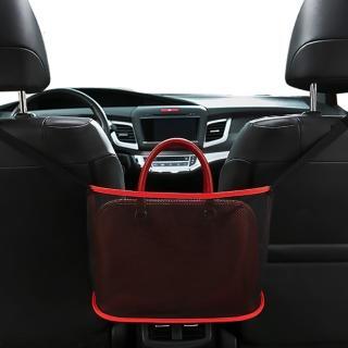 【EZlife】汽車座椅間置物網兜收納袋