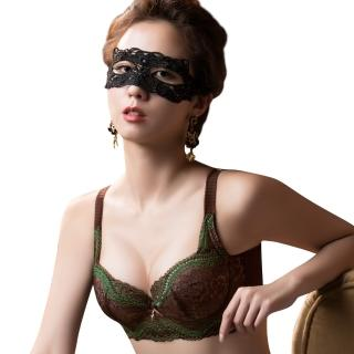 【Swear 思薇爾】薔薇魅影系列B-G罩背心式蕾絲包覆內衣(深可可)