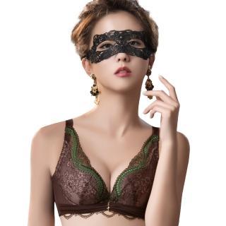 【Swear 思薇爾】薔薇魅影系列B-E罩蕾絲包覆內衣(深可可)