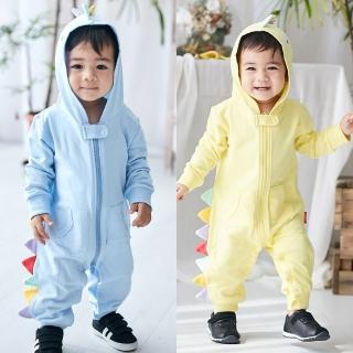 【Baby童衣】立體造型長袖拉鍊連身衣 82043(共2色)