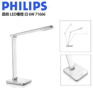 【Philips 飛利浦】CALIPER 晶皓LED 檯燈 白色(71666)