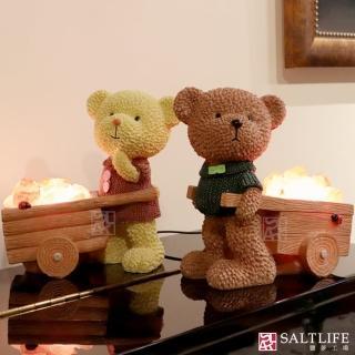 【鹽夢工場】創意造型鹽燈-寶貝熊(紅)