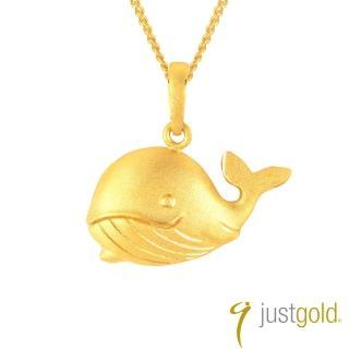 【Just Gold 鎮金店】親子情純金系列 黃金墜子 鯨魚媽媽
