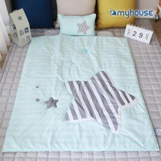 【myhouse】韓國防蹣抗敏兒童睡袋 -(流星藍)