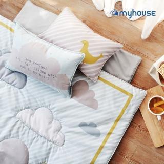 【myhouse】韓國防蹣抗敏兒童睡袋 -(雲朵藍)