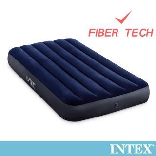【INTEX】經典單人加大_新款FIBER TECH_充氣床墊-寬99cm(64757)