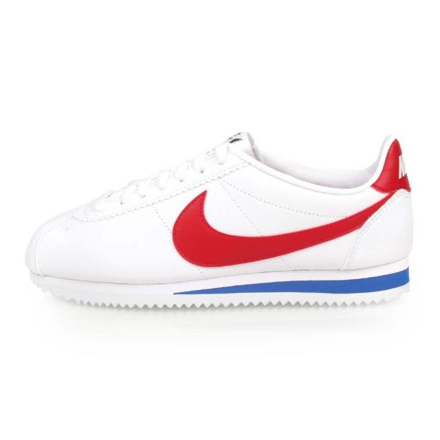 【NIKE 耐吉】女_耐克_WMNS CLASSIC CORTEZ LEATHER_休閒鞋 白紅藍(807471103)