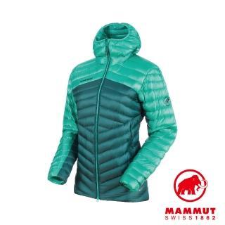 【Mammut 長毛象】Broad Peak IN Hooded Jacket 防潑水連帽羽絨外套 水鴨綠/珊瑚綠 女款 #1013-00350
