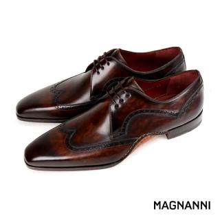 【MAGNANNI】經典翼紋德比紳士鞋(咖啡 21397-MBR)