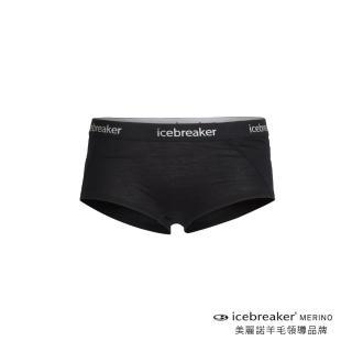 【Icebreaker】女 Sprite 四角內褲-BF150-黑(IB103023-001)