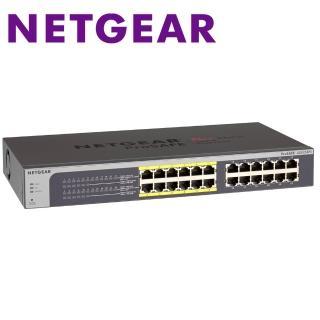 【NETGEAR】JGS524PE 24埠 Giga簡易網管PoE交換器