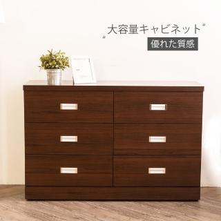 【時尚屋】凱特胡桃4尺六斗櫃ZZ7-2(免運 免組 斗櫃 收納櫃)