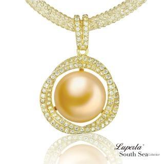 【大東山珠寶】極致閃耀 南洋珍珠純銀項鍊(南洋珍珠 金)
