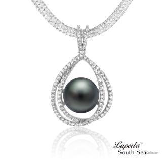 【大東山珠寶】極致奢華 南洋珍珠純銀項鍊(南洋珍珠 大溪地黑)