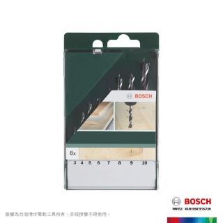 【BOSCH 博世】木工鑽頭組8支裝(圓柄)