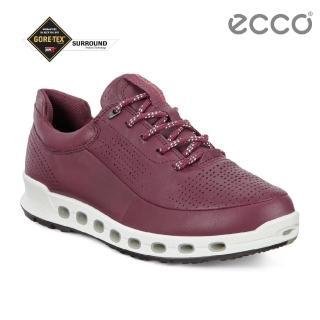 【ecco】COOL 2.0 LADIES 360度環繞防水休閒運動鞋 女(酒紅 84251301278)