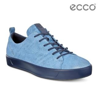 【ecco】SOFT 8 LADIES 限定款簡約休閒鞋 女(牛仔藍 44079301321)