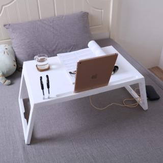 【IDEA】多功能攜帶式摺疊懶人收納桌/床上桌/戶外桌(銀灰/純白)