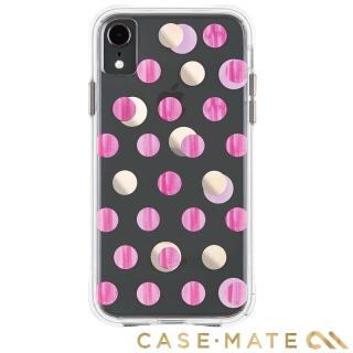 【美國 CASE-MATE】iPhone XR Wallpapers(絢麗畫布防摔手機保護殼 - 粉紅圓點)