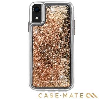 【美國 CASE-MATE】iPhone XR Waterfall(亮粉瀑布防摔手機保護殼 - 金色)