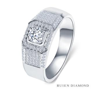 【RUIEN DIAMOND 瑞恩鑽石】GIA 50分 D VS1 3EX 男戒(18K金 鑽石戒指)