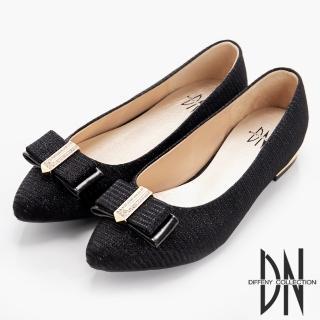 【DN】細緻單品 閃耀金蔥布尖頭包鞋(黑)