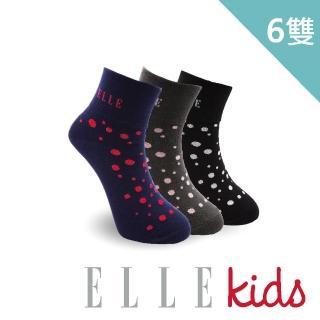 【ELLE】點點派對親子寬口童襪-6入組(童襪/女襪/L號/17-21cm)