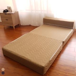 【BN-Home】Yoshino吉野獨立筒單人四折沙發床(沙發/布沙發/床墊/台灣製)