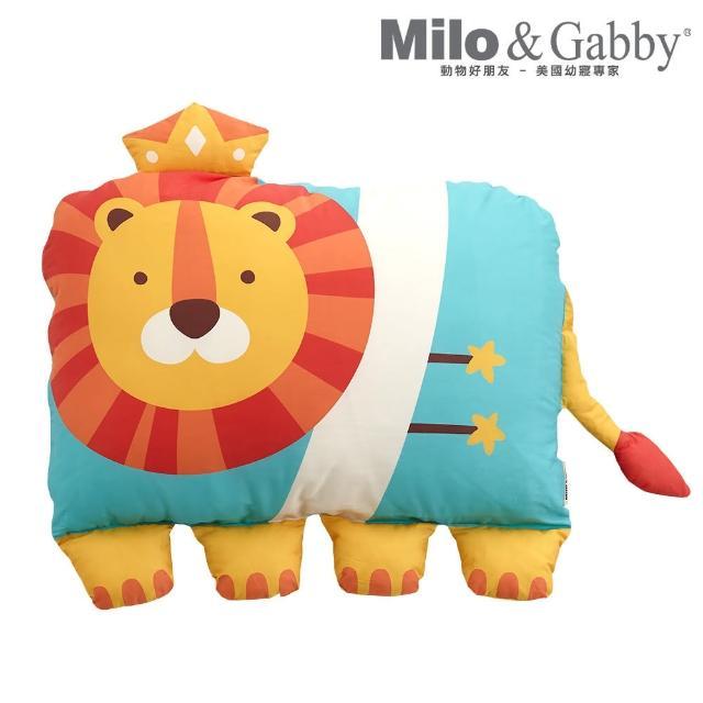 【Milo&Gabby】動物好朋友-超細纖維防蹣銀離子大枕心+枕套組(多款任選)
