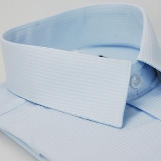 【金安德森】藍色吸排窄版長袖襯衫-fast
