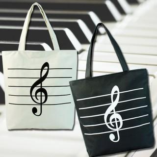 【美佳音樂】音樂鋼琴 高音符 帆布袋/環保袋/手提袋/樂譜袋(樂譜袋)