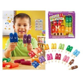 【Learning Resources】英文字母棒冰 家家酒玩具  兒童房幼兒園(益智成長 邏輯建構 原裝進口)