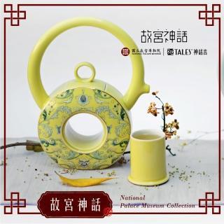 【TALES 神話言】乾隆雅翫- 8福運轉‧茶器 鳳蓮白(文創 禮品 禮物 收藏)