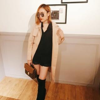 【BBHONEY】正韓空運法式經典時尚風格長版風衣外套(韓國官網REALCOCO代購)