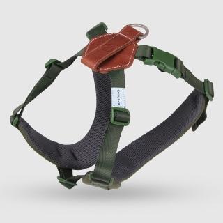【SPUTNIK 斯普尼克】EXPLORE 寵物胸背帶Harness(綠色L)