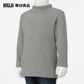 【MUJI 無印良品】幼兒有機棉混起毛針織短領長袖T恤(共3色)