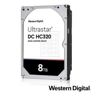 【WD 威騰】Ultrastar DC HC320 8TB 3.5吋 企業級硬碟(HUS728T8TALE6L4)
