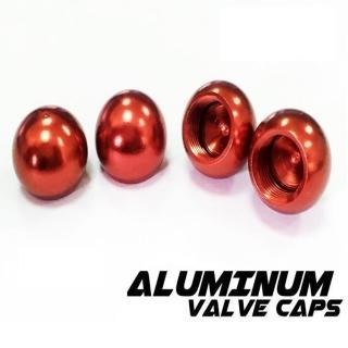 【Cotrax】鋁合金氣嘴蓋-珠珠型/紅色(輪胎蓋 自行車 輪胎頭 輪框 重機 單車 電動機車 機車 轎跑車)