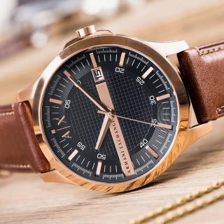 【ARMANI EXCHANGE】經典紳士格紋時尚腕錶(AX2172)