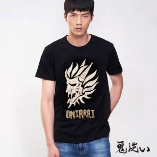 【BLUE WAY】印花鬼頭圓領短TEE - 鬼洗