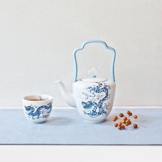 【TALES 神話言】世紀龍顏-中式提梁茶壺-單品(文創 禮品 禮物 收藏)
