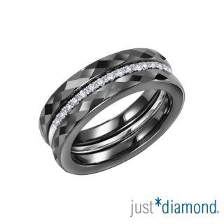【Just Diamond】Day & Night 日與夜系列 鑽石戒指-Triplet(黑)