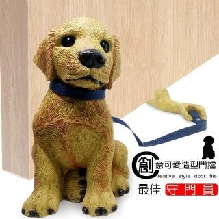 【金德恩】迷你動物造型防撞門檔+礦砂菜瓜布3片(小狗/擺飾/居家/寵物/門縫)