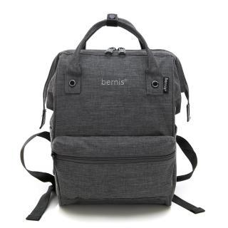 【BERNIS貝爾尼斯】輕量方型魚口後背包-中款-煙灰(BNE18092-GY)