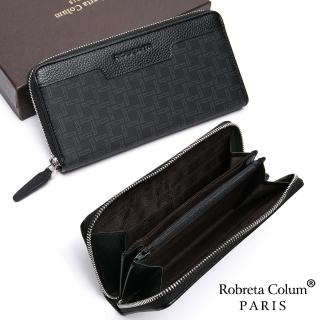 【Roberta Colum】尊爵格調頭層牛皮8卡單拉鍊長夾