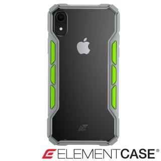【美國 Element Case】iPhone XR Rally(專用拉力競賽防摔殼 - 淺灰/萊姆綠)