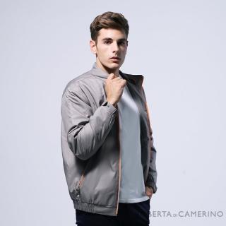 【ROBERTA 諾貝達】台灣製 都會機能 防潑水 厚鋪棉夾克外套(褐色)